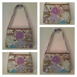 Sequins and Beads Evening Bag - VINTAGE TBD