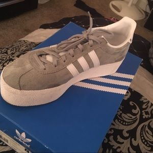 Adidas gazelle platform sneakers
