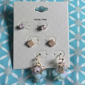 Lilly Pulitzer Jewelry - Set of Three Nickel Free Earrings