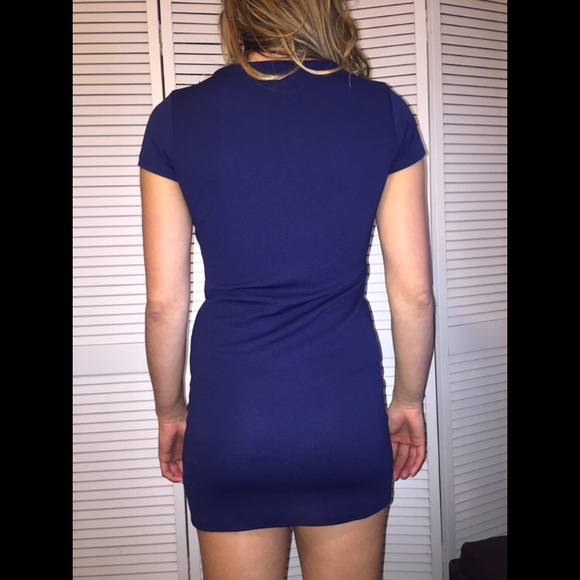 Cocktail dress navy blue envelopes