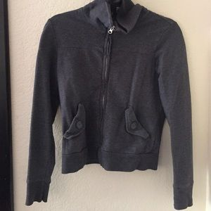 Ann Taylor Loft zipper sweater in XS in gray