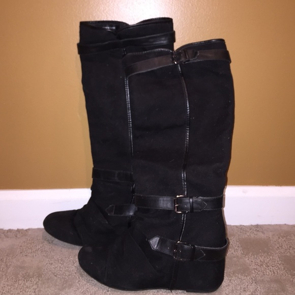68 aldo shoes aldo wedge boots with buckle details