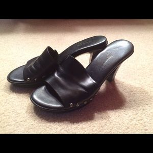 August Max Shoes - August Max Black Heeled Sandals. Sz 7.5