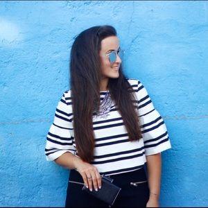 Zara Tops - Striped crop top