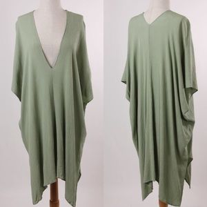 Dresses & Skirts - CLOSET CLEAR OUT Deep V Kimona Dress in OLIVE