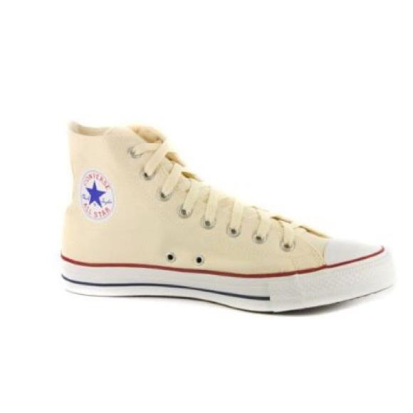 Converse Shoes - Converse Creme High Tops