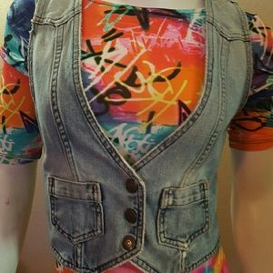 Gap, denim vest.
