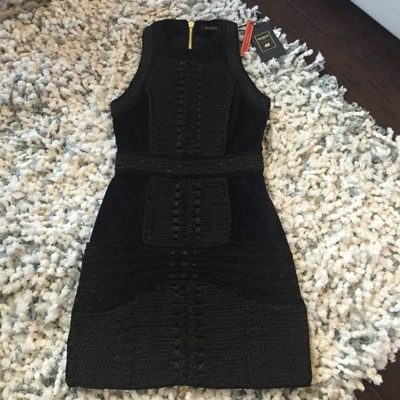 79359ca0f6e5 Balmain Dresses   X Hm Rope Black Dress   Poshmark