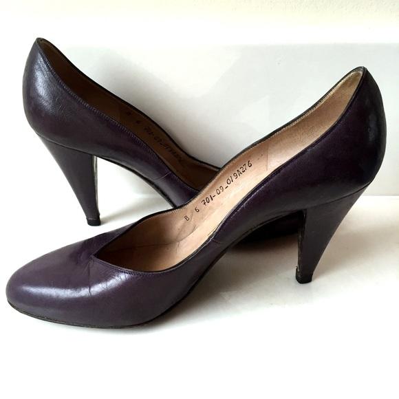 7a9890c51c9 Bruno Magli Shoes - BOGO🤑 Vintage Bruno Magli Purple Leather Shoes 6