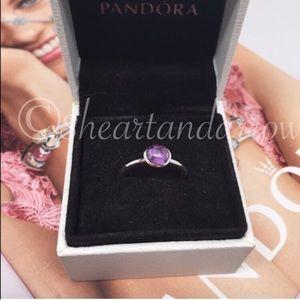 Jewelry - Pandora poetic droplets purple moonstone ring