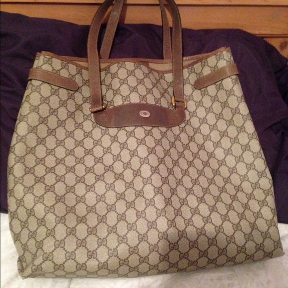 ee4fcd7b731741 Gucci Bags | Authentic Vintage Tote For Trade | Poshmark