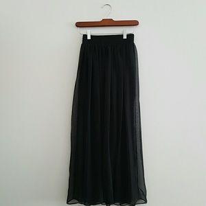 Dresses & Skirts - Sheer Black Gypsy Boho Maxi Skirt