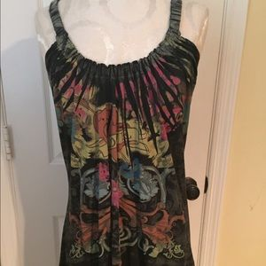 elan Dresses & Skirts - Elan tank style dress multicolor S