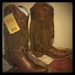 Corral Fringe Cowboy boots  SZ 8.5