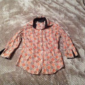 Liz Logie Tops - 3/4 sleeve collared shirt