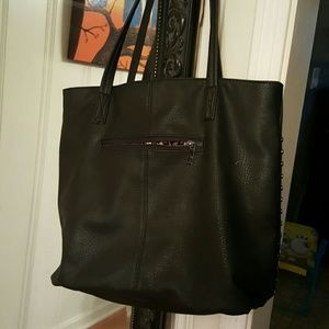 Bags - Black shoulder purse with studs.