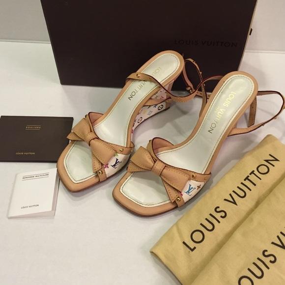 e8b57af5221 Louis Vuitton Shoes - Louis Vuitton Monogram Multicolor Wedge