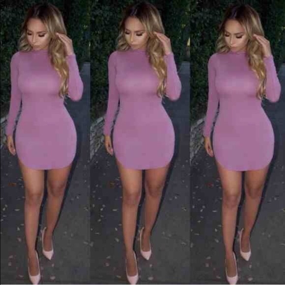 SOLD OUT Naked wardrobe mini dress in lilac