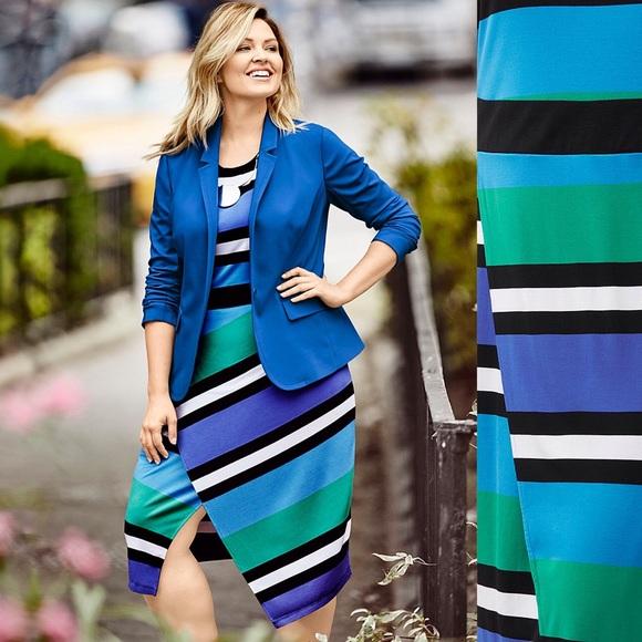 58% off Lane Bryant Dresses & Skirts - New! Lane Bryant Striped ...