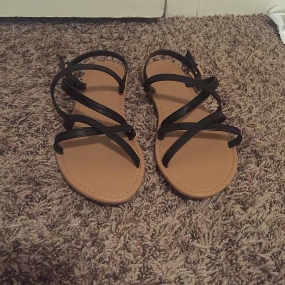 321548578 Forever 21 Shoes - Crisscross Faux Leather Sandals