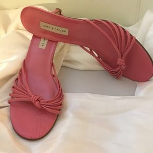 Lord & Taylor Shoes - Lord & Taylor leather pink sandals