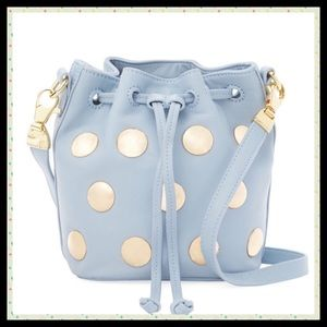 Cynthia Rowley Handbags - 💙Fabulous Blue Leather Studded Bucket Bag💙