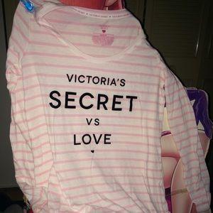 Victoria's Secret Sleep Shirt long sleeve Pink S