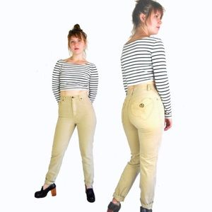 Vintage MOSCHINO High Waist Yellow Khaki Pants