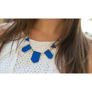 Jewelry - Royal Blue Geometric Necklace