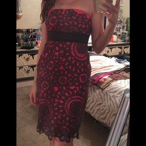 Floreat brand crochet lace strapless dress