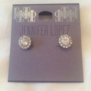 New Jennifer Lopez rhinestone stud earrings
