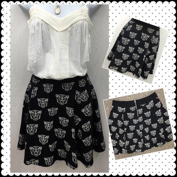 f53e62d00fed3 Divided Dresses & Skirts - Cat print skater skirt by Divided for H&M ...
