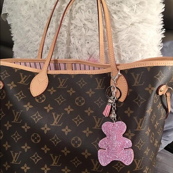 3ccdbfbe08b Louis Vuitton Accessories | Swarovski Teddy Bear Charmkeychain ...