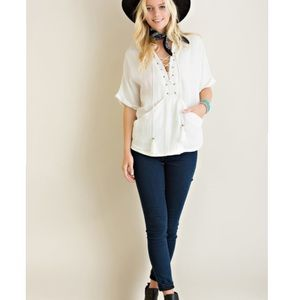 Citrus and Lavender Lane Tops - The Taylor Top in Off White
