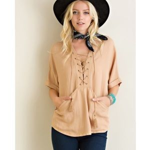 Tops - The Taylor Top in Tan