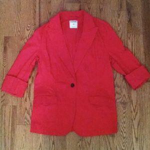 Old Navy Red Blazer