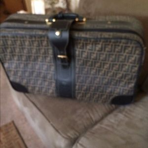 Vintage 1980 authentic FENDI large suitcase