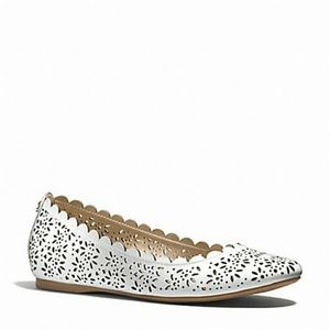 78 coach shoes white coach scallop flats from sally