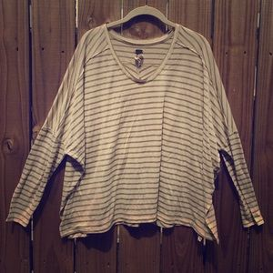 Free People Striped Knit Longsleeve Top