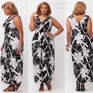 c2418cabc6f Lane Bryant Dresses - Lane Bryant Simply Chic Draped Maxi Dress