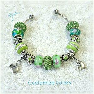 Salty Grace  Jewelry - Candy Apple green, teacherEuropean charm bracelet