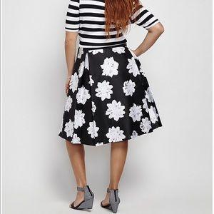 7b57f49420 Lane Bryant Skirts - NEW! Lane Bryant Floral Box Pleat Skirt Plus Size