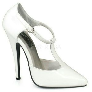 "Shoes - T-STRAP D'ORSAY STYLE PUMP WITH 6"" HEEL"