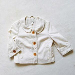 LOFT White Crop Jacket