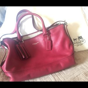 SALE!!! ❤️❤️Red leather Coach bag