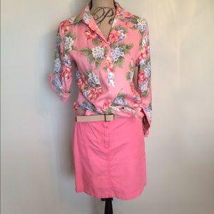 Jones New York Dresses & Skirts - Jones New York Signature salmon skirt w/ belt