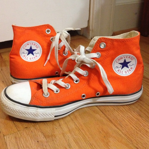 Converse Shoes - Converse High Tops Orange 00f1ceb37