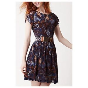 Anthropologie Flared Caraz Dress