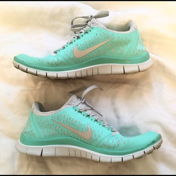 half off 1f136 3e1ef Tiffany Blue Free 3.0V Nike running shoes 6