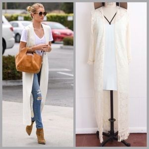 Atid Clothing Accessories - Lace Duster ✨PRICE FIRM*
